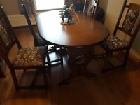 Dining Table & Chairs with matching Sideboard