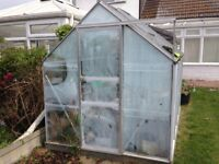 Free 8' x 6' greenhouse. Recipient to dismantle & collect. Good condition with all glass