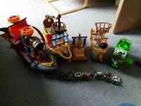 Pirate toy bundle (mostly imaginext)