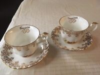 50th Golden Anniversary Royal Albert cup and saucer x 2