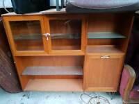 Vintage Retro Room Divider Sideboard Dresser Bookcase TV Kitchen Lounge