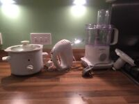 electric whisk, slow cooker and teapot