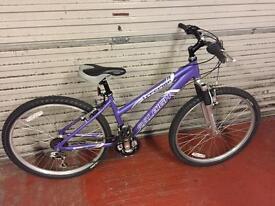 """Raliegh Freeride ,26""""wheels,15""""frame,18 speed suspension bike"""