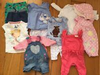 Baby girls newborn clothes bundle - £10 great condition