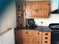 Gorgeous oak faced kitchen for sale