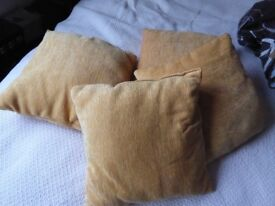 4 rich yellow cushions and covers