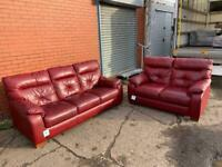Beautiful DFS Genuine leather sofas 3&2 delivery 🚚 sofa suite couch