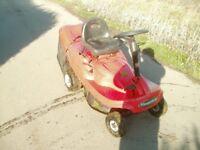 RIDE ON LAWNMOWER RUNS SPARES REPAIR EXPORT CHEAP TRACTOR GOCART GRASS
