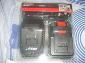 parkside 20v battery and charger new