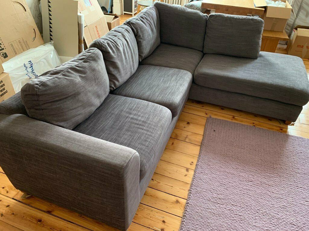 Awesome John Lewis Felix Rhf Corner Chaise End Sofa Charcoal Very Good Condition In New Town Edinburgh Gumtree Alphanode Cool Chair Designs And Ideas Alphanodeonline