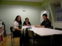 French beginner, elementary, pre-Interm. and upper-interm. group courses (and one to one lessons)
