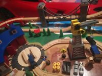 Universe Of Imagination Wooden Train Table And Train Set