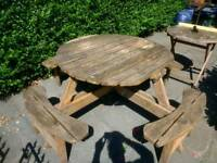 Garden furniture picnic table