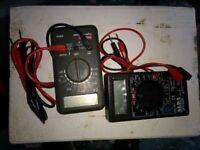 2 x electrical multi-meters