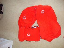 Bugaboo Cameleon Orange Fleece Tailored Fabric