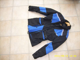 Ladies motorbike/scooter jacket Size 10/12 Black and Blue