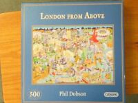 Jigsaw Puzzle, 500 pieces, 'London from Above' by Gibsons