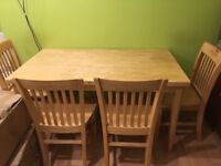 Wooden Dining Table and Six Chairs