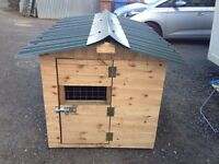 HEAVY DUTY LARGE DOG KENNEL WITH PORCH DOG PEN RUN HOUSE PET
