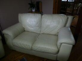 Cream Italy Leather Sofa , sale or swap.