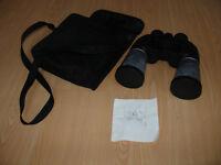 Binoculars with case.