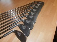 "A Set Of 9 "" YASUDA "" IRONS. 3 TO S/W, -- Series 2 -- Special Edition -- RED DOT."