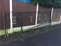 16ft Of Garden Railings & Gate / 4ft Tall / Metal Fencing Can Deliver WIG R