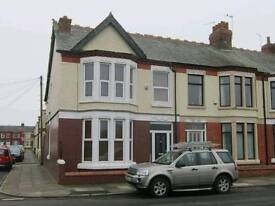 3 bedroom House for rent, Grant Avenue, Liverpool,L15. Overlooking Wavertree Park.