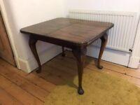 Solid Wood Dining Table - Dark brown - Seats 6-8 people