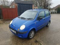 Matiz 0.8 Petrol Engine 5Dr With 1 Year Mot And Low Mileage 55K
