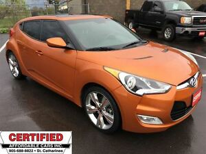 2013 Hyundai Veloster w/Tech ** NAV, BACKUP CAM, HTD LEATH **