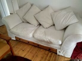 Three Seater Sofa - good condition, two sets of covers