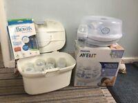 Avent Microwave Steriliser with 14 Bottles