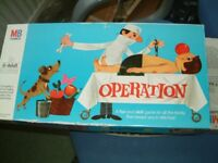 Operation Board Game by MB Games, Clean condition, box lid a little marked, with new batteries.