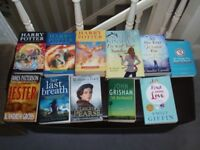 Selection of books Hardback and Paperback