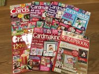 bundle of 7 x christmas themed cardmaking / scrapbooking / papercraft magazines