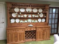 Large farmhouse pine dresser