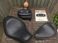 Harley Davidson seats and filter for sportsters