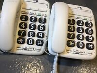 BT large button telephones x2