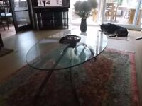 Glass Coffee Table & Glass Occasional Table (two items)