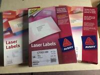 X3 packs of laser labels (Avery)