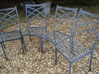 # # SET OF 4 STEEL GARDEN / PATIO CHAIRS ONLY £20 # #