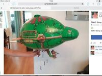Ninja turtles blimp / aircraft with Leo turtle . Excellent cond smoke pet free home. Bargain at £7