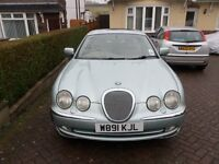 S type jaguar 3ltr auto year 2000