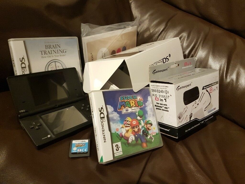 MASSIVE Nintendo DSi bundle with original box, gamexpert essential pack, 3 games