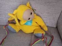 Teletubbies yellow Lala vintage soft plush backpack