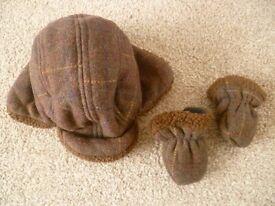 Hat & gloves set 3-6 months