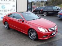 2010 MERCEDES E350 CDI 3.0 SPORT BLUEEFFICENCY TIP AUTO COUPE (FINANCE & WARRANTY AVAILABLE)