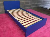 New Single blue wooden bed frame