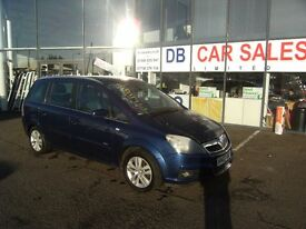 7 SEATER !!! 2007 07 VAUXHALL ZAFIRA 1.8 DESIGN 16V 5d 140 BHP **** GUARANTEED FINANCE ****